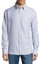Brioni Regular-Fit Linen & Cotton Dress Shirt