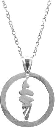 Anchor & Crew Ice Cream Disc Paradise Silver Necklace Pendant