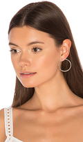 joolz by Martha Calvo Facade Front Hoop Earrings in Metallic Silver.
