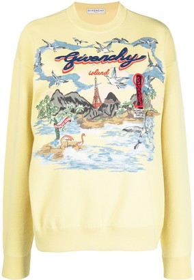Givenchy Island graphic-print sweatshirt