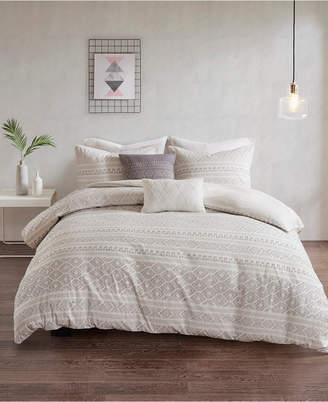 Urban Habitat Lizbeth King/California King 5 Piece Cotton Clip Jacquard Duvet Cover Set Bedding