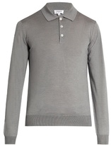 Brioni Wool, silk and cashmere-blend polo shirt