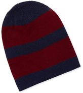 Qi Cashmere Rugby Striped Hat
