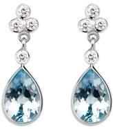 Aspinal of London Aphrodite Teardrop Aquamarine & Diamond Earrings