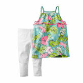 Carter's 2-pc. Tropical Top and Leggings Set - Baby Girls newborn-24m