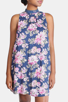 En Creme Floral High Neck Dress