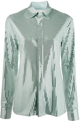 Bottega Veneta Mirror Sequin Detail Shirt