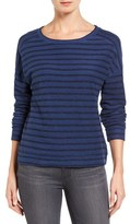 Petite Women's Caslon Drop Shoulder Sweatshirt