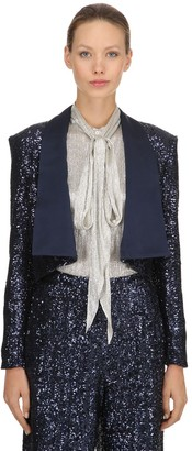 Ingie Paris Sequined Bolero Jacket