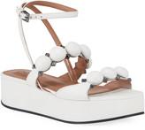 Alaia Bombe Stud Leather Platform Sandals