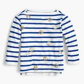 J.Crew Girls' striped emoji T-shirt