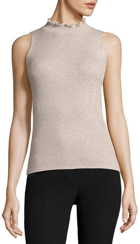 Liz Claiborne Sleeveless Crew Neck Pullover Sweater