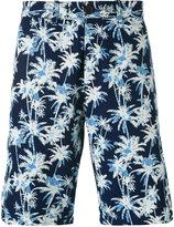 Edwin palm tree print shorts - men - Cotton - 29