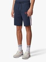 HUGO BOSS BOSS Headlo Curved Logo Jogging Shorts, Navy