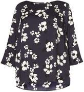 Dorothy Perkins DP Curve Navy Floral Soft Top