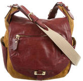 Isabel Marant Leather-Trimmed Suede Bag