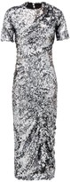 Preen by Thornton Bregazzi Sophia Sequinned Ruched-front Midi Dress - Womens - Dark Grey