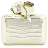 Nancy Gonzalez Crocodile Rose Box Clutch Bag