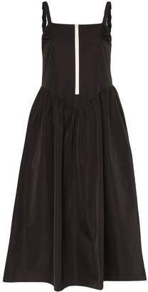 Sandy Liang zip-up front strappy midi dress