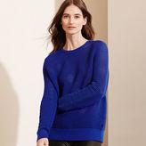 Ralph Lauren Open-Knit Shoulder-Zip Sweater