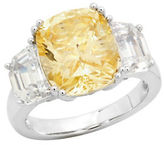 Crislu Confetti Canary Platinum-Plated Sterling Silver Cocktail Ring