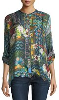 Johnny Was Canvas Printed Silk Twill Tunic