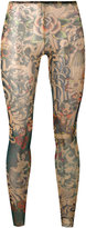 DSQUARED2 Tattoo leggings - women - Nylon/Spandex/Elastane - S