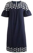 J.Crew Women's Bell Sleeve Fringe Dot Dress
