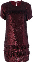 P.A.R.O.S.H. gathered sequin dress