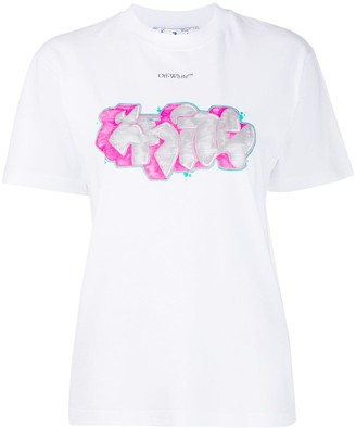 Off-White graffiti-print T-shirt