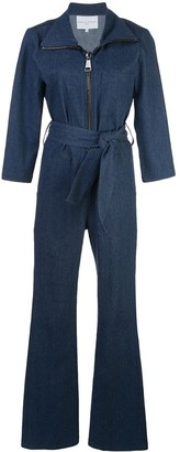 Carolina Ritzler Zip-Up Denim Jumpsuit