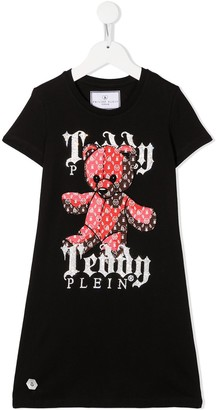 Philipp Plein Junior graphic print T-shirt dress