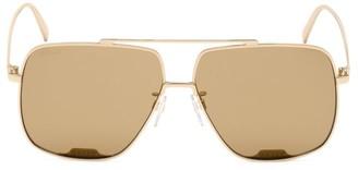Bally 60MM Square Aviator Sunglasses