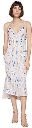 BCBGeneration Faux Wrap Midi Dress TRV6169244 (Tapioca) Women's Dress