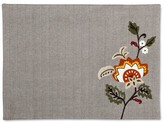 Threshold Embroidered Floral Placemat Gray