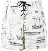 Tory Burch boat print shorts - women - Cotton/Spandex/Elastane - 27