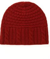 Preston & york ribbed cable-knit beanie