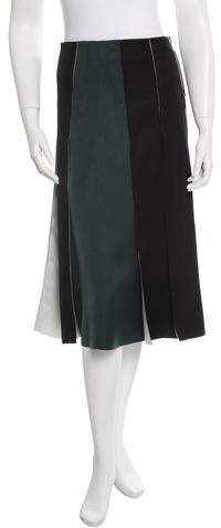 Cédric Charlier Pleated Midi Skirt w/ Tags