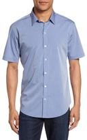 Zachary Prell Men's Diamond Print Short Sleeve Sport Shirt