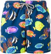MC2 Saint Barth fishes print swim shorts - men - Polyamide/Polyester/Spandex/Elastane - S