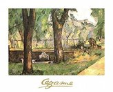 Cezanne 1art1 Posters: Paul Poster Art Print - Basin And Fountain Of Jas De Bouffan (12 x 9 inches)