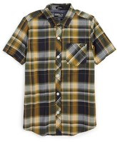 O'Neill Boy's Plaid Short Sleeve Shirt