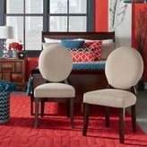 Inspire Q Paulina Grey Fabric Round Back Dining Chair (Set of 2)