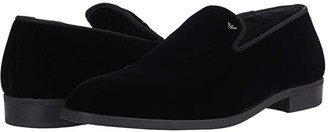 Emporio Armani Velvet Formal Tux Slip-On (Black) Men's Shoes