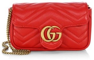 Gucci GG Marmont Matelasse Leather Mini Chain Camera Bag