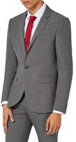 Topman Men's Textured Skinny Fit Suit Jacket