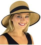 Jendi Adjustable Black Bind Wide Brim Hat