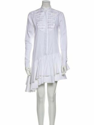 Maggie Marilyn Mock Neck Mini Dress White