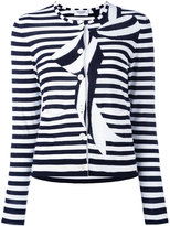 Thom Browne striped bow cardigan - women - Cotton - 42