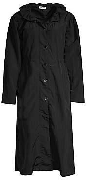 Opening Ceremony Women's Ruffle Collar Raincoat